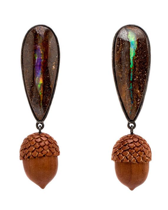 K-Brunini-Sawo-Wood-Acorns-and-Opal-Drop-Earrings-10214470-16375