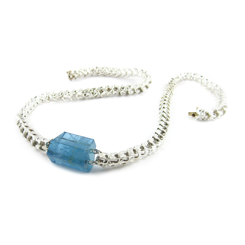 K Brunini Vertebrae Necklace Aquamarine