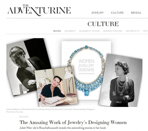 K.Brunini featured in Juliet Weir-de la Rouchefoucauld's book about women jewelry designers