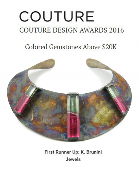 K Brunini, Couture, Design Awards, Collar, Necklace