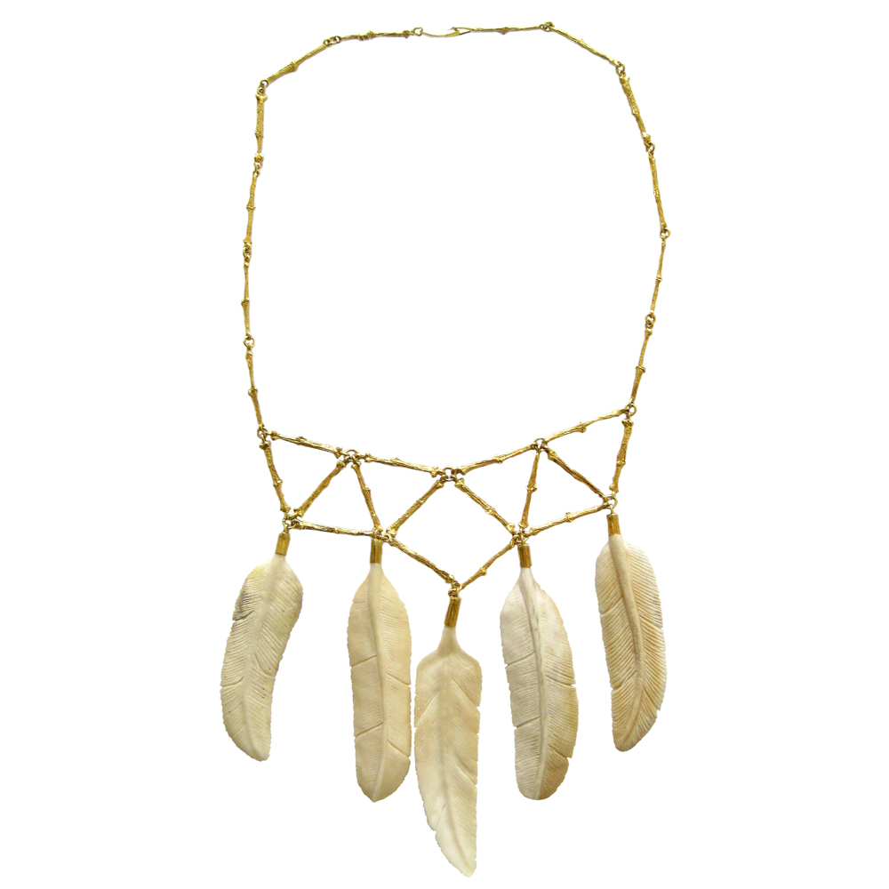 Feather Necklace Jewelry