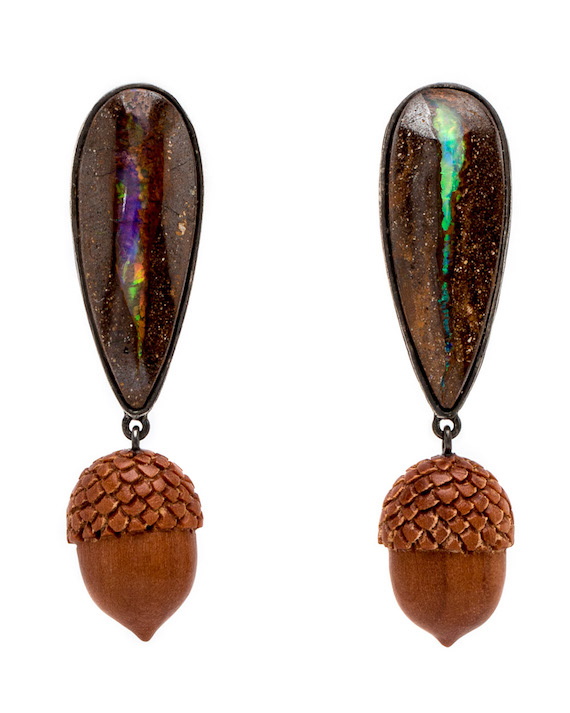 K-Brunini-Sawo-Wood-Acorns-and-Opal-Drop-Earrings-10214470-16375