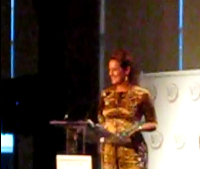 Katey Brunini Accepts WJA Designer of the Year Award