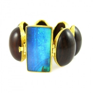 k brunini, jewelry, couture, designer jewelry, bracelet, wood