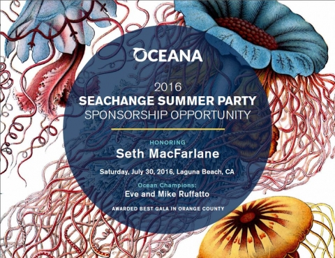 Oceana, Summer, Change, Party, Benefit, Donation, Seth McFarlane