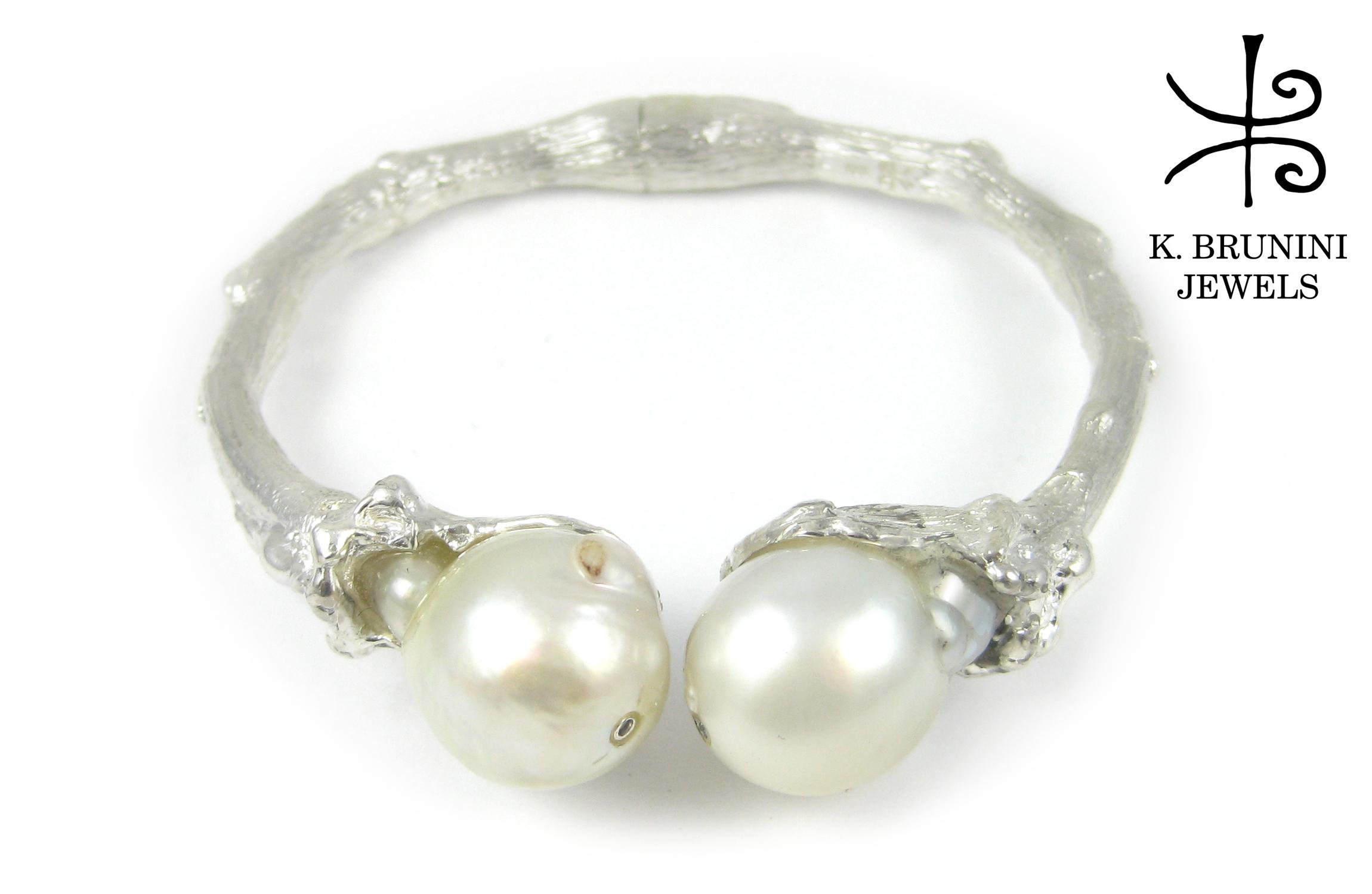 K Brunini, K Brunini Jewels, Twig, Cuff, Pearl