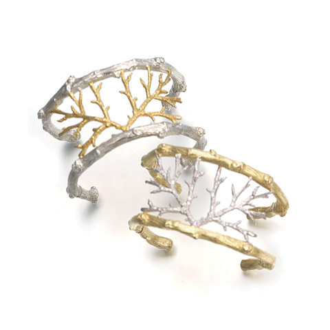 Hand-textured Twig ring
